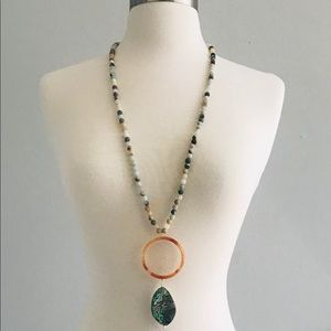 Handmade Amazonite & Abalone Necklace